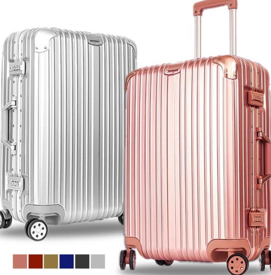 26吋 行李箱 鋁框時尚【BOXKING】幻月時尚 鋁框PC行李箱(多色任選)