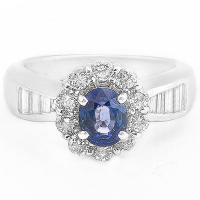 【JHT 金宏總珠寶/GIA鑽石專賣】0.95ct天然藍寶鑽戒/材質:PT900(JB8-B38)