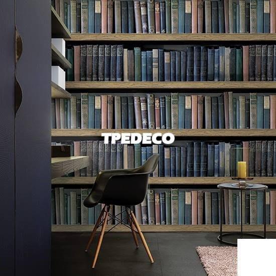【大台北裝潢】MA韓國進口壁紙/壁布* 書架 書本牆  每坪750元