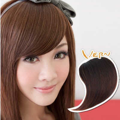 韋恩瀏海-假髮髮片-斜長瀏海髮片-日系旁分造型-日本仿真髮絲可電棒離子夾耐溫180度(3色)【VH10401】
