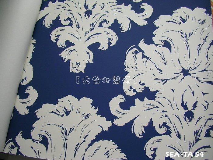 【大台北裝潢】美國Seabrook進口壁紙TA* Montserrat 圖騰(4色)