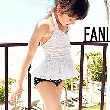 ~方妮FaNi~ ~蕾絲洋裝 泳帽寶寶三件式兒童泳衣~三件組女童泳裝小孩泳裝 度假海灘沙灘