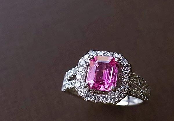 ☆采鑫珠寶 。。夢幻公主。頂級粉紅剛玉鑽戒。。。。客訂款