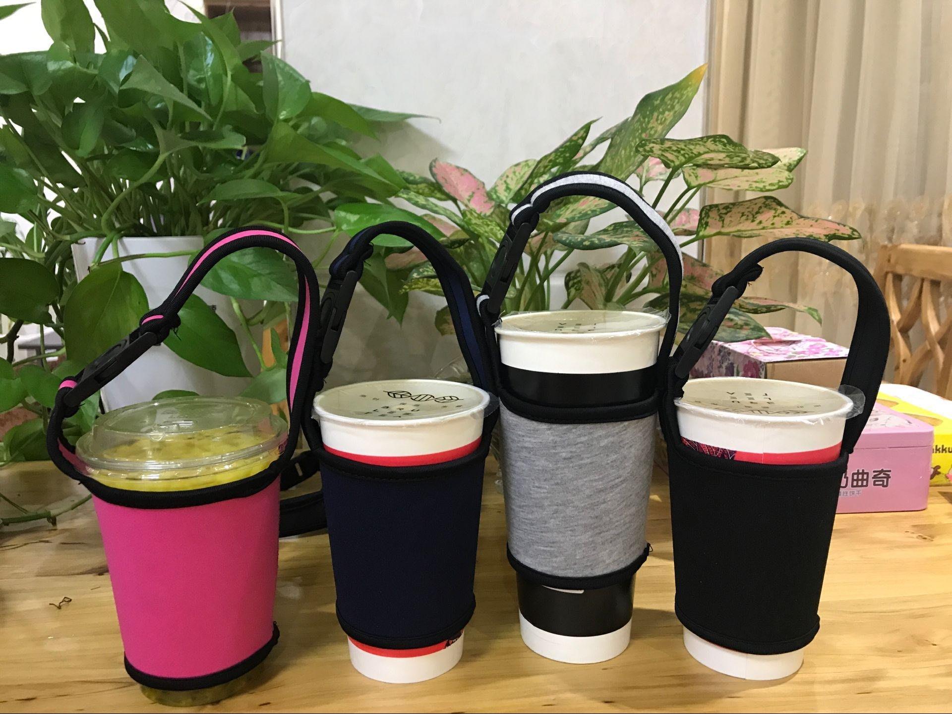 手搖飲料 500/700cc通用型飲料杯套 環保潛水布料杯袋 環保飲料提袋