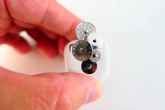 [吉宏精品交流中心]BVLGARI 寶格麗 時來運轉 18白K金 原鑲鑽石 戒指(2)