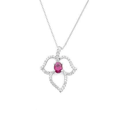 【JHT 金宏總珠寶/GIA鑽石專賣】1.30ct天然紅寶鑽墜/材質:18K(R00031)