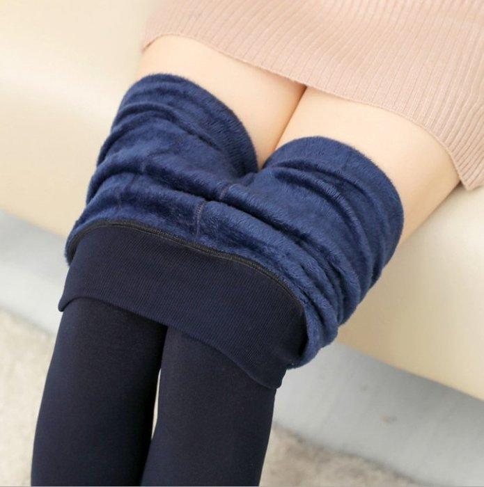 ~LION TREE 獅子樹~加絨加厚珍珠絨打底褲 踩腳保暖外穿一體褲女 A0724