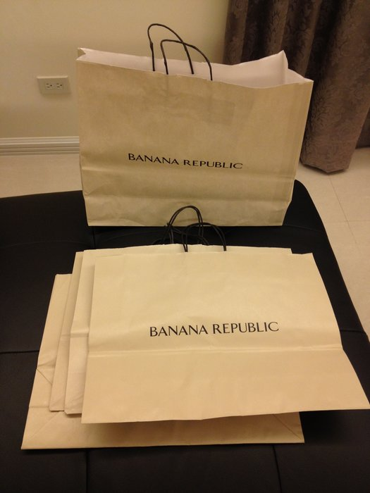 Banana Republic 香蕉共和國 紙袋 提袋 大 49x38x15cm  美國帶