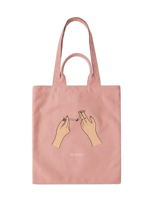 新品現貨【 Miioi 麋貳屋 】YIZISTORE帆布印花單肩包大容量環保購物袋