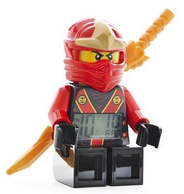 【LEGO 樂高 】全新美國正品/ 紅忍者鬧鐘 Ninjago 旋風忍者 數字時鐘 KAI 人偶 公仔 附武器: 金龍刀