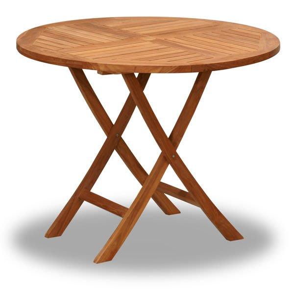 Brother兄弟牌印尼柚木古典折疊圓桌(100cm)~庭園休閒必備!!南洋休閑風情~~