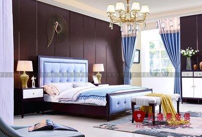 [ 紅蘋果傢俱 ] SL-129  歐式美式系列 雙人床 床架 床組 數千坪展示