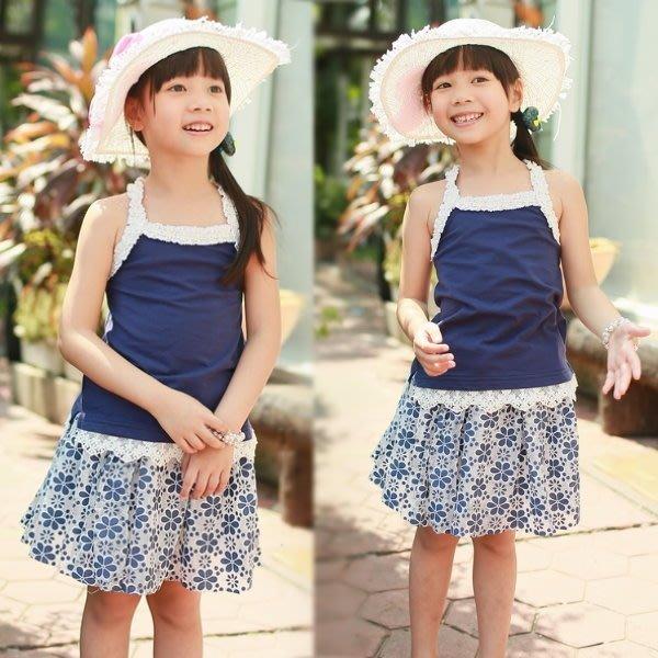 【班比納精品童裝】氣質公主滿版花蕾絲紗裙-藍 【BD150309030】
