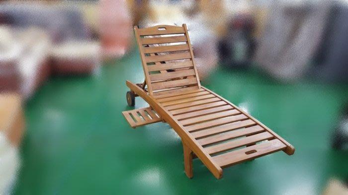 二手家具 台中連冠中古傢俱館❋TK-H05*全新柚木海灘椅❋實木戶外休閒椅 按摩椅*台中便宜家二手傢俱拍賣 泡茶桌椅