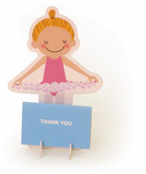 芭蕾小棧生日畢業表演禮物日本進口Little Ballerina可愛文具立體組合式舞者感謝卡感恩卡Thank