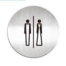 [職人の紙.二店工場] 美國迪多 Deflect-o/高質感鋁製品 系列/標示貼牌/洗手間  圓形/含稅價 !