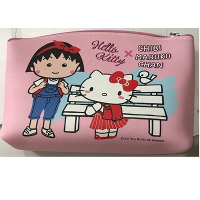 Hello Kitty 小丸子KTCM鎖圈船型筆袋4713791969987