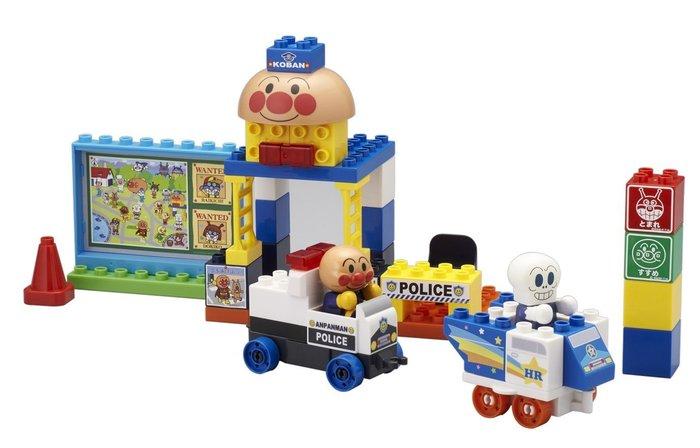X射線【C020707】麵包超人ANPANMAN 警察抓小偷2人形積木玩具 ,迷你積木/多元創意積木/玩具/建構棒/樂高