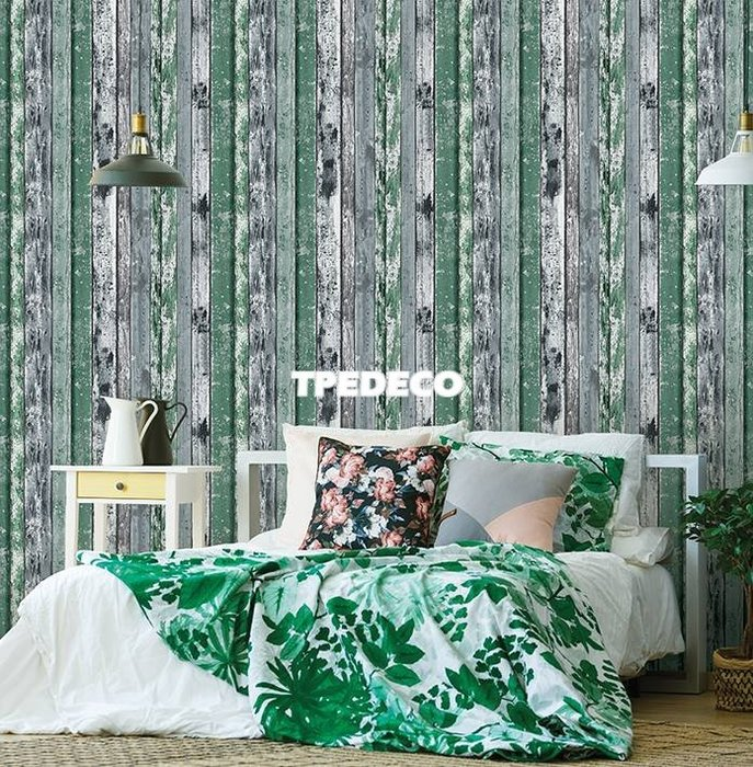 【大台北裝潢】PT馬來西亞現貨壁紙* 環保建材 仿建材 粗獷木條(4色) 每支580元