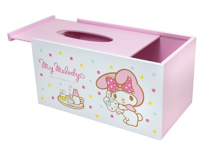 【正版授權】三麗鷗 美樂蒂 粉彩面紙收納盒/面紙盒/木盒