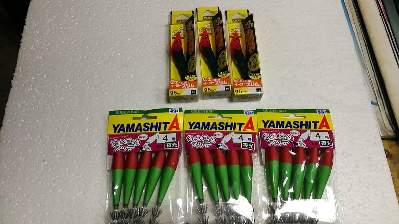 YAMASHITA 4號布捲 加 DUEL  夜光布卷蝦 天龍蝦 量販價