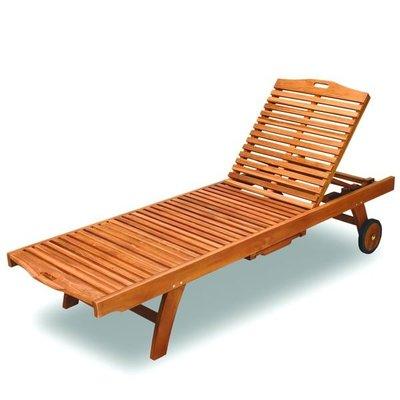 躺椅~印尼柚木雪梨二節式柚木躺椅(可另...