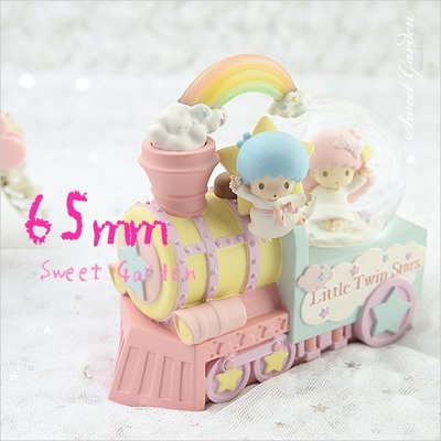 Sweet Garden, Little Twin Stars 65mm星星火車水球 KiKi LaLa 彩虹發光水晶球