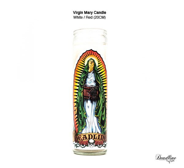 GOODFORIT / 美國Deadline Virgin Mary Candle惡趣聖母七日蠟燭20CM/無味/紅