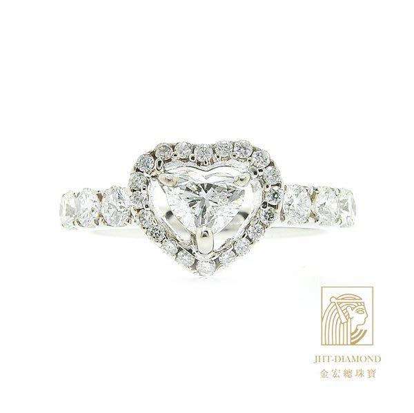 【JHT金宏總珠寶/GIA鑽石專賣】0.51t鑽石戒指/材質:18K(D000185)