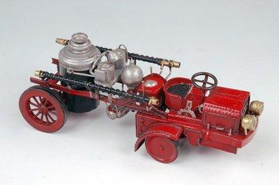 [模型館] { Q708-1 } 美國古董金屬消防車 1906