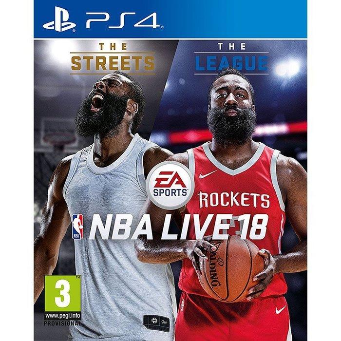 全新未拆 PS4 NBA LIVE 18 勁爆美國職籃 2018 -英文版- 籃球