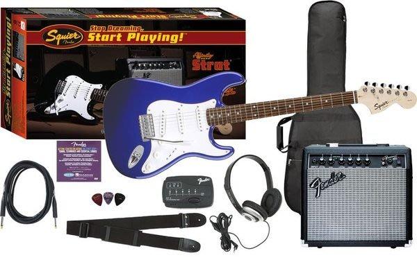 ☆ 唐尼樂器︵☆ Fender Squier 電吉他超值套裝組(含15瓦音箱全套配件一次到齊)