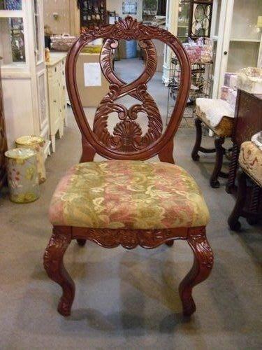 OUTLET限量低價出清美生活館---全新古典雕刻 凱薩琳 餐椅