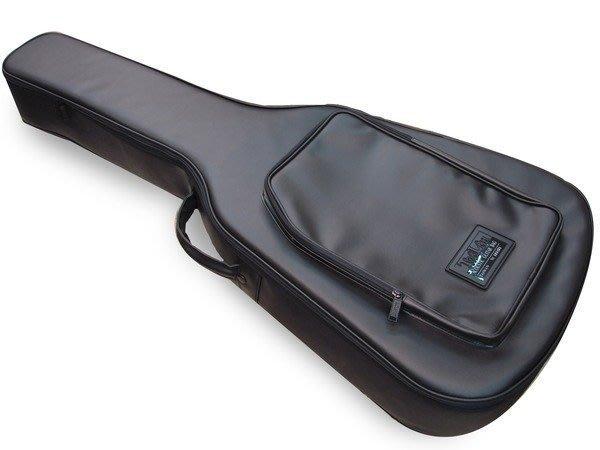 【六絃樂器】全新合成皮硬式民謠吉他袋 軟盒 可雙肩揹 保護性佳 / 現貨特價