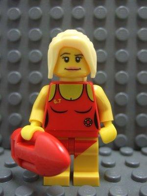 【积木1977】乐高 Lego-全新 第2代人偶包系列 女救生员/泳装女孩 (8684)