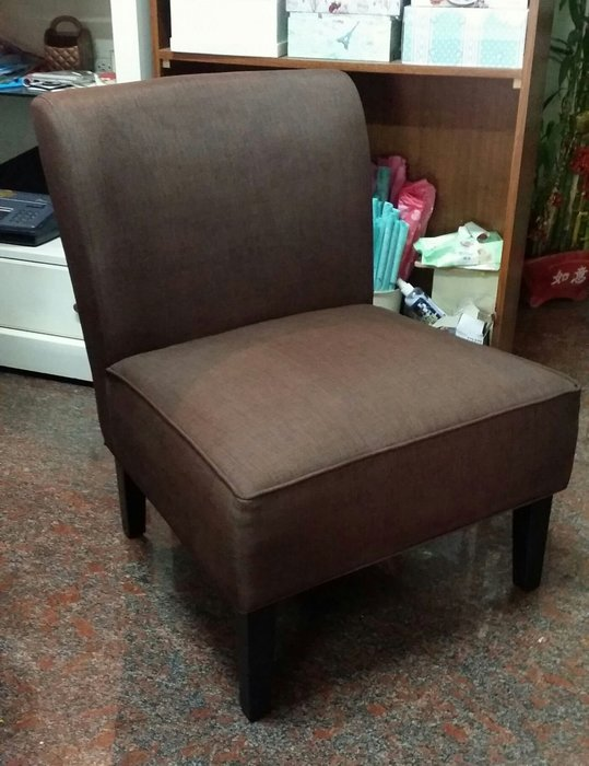 美生活館---全新 鄉村古典 田園 工業LOFT 亞緹單人咖啡色布沙發 休閒椅 房間椅 店面餐廳民宿居家拍照