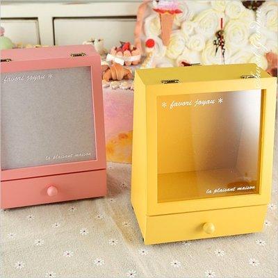 Sweet Garden, 粉色珠寶收納音樂盒(可選曲) DIY創意設計娃娃屋音樂鈴 商店櫥窗 有收屜 門可打開