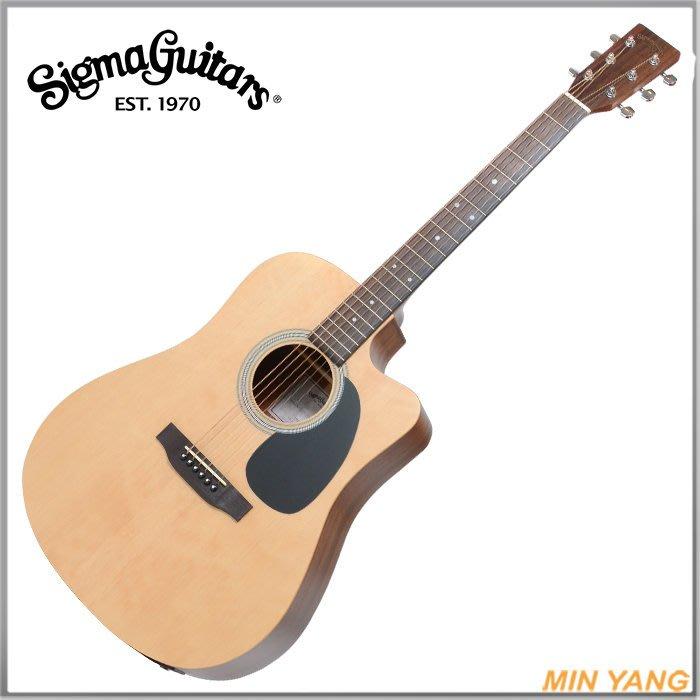 【民揚樂器】民謠吉他 SIGMA DMC-STE 面單木吉他 EQ DMCSTE