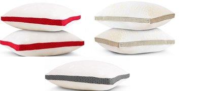 LooCa 時尚版-透氣超釋壓獨立筒枕2入 紅色 灰色 黃色 含運950