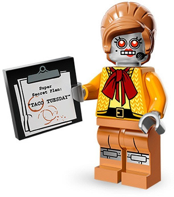 絕版品【LEGO 樂高】玩具 積木/ Minifigures人偶包系列: 樂高玩電影 71004   #11 機器女秘書