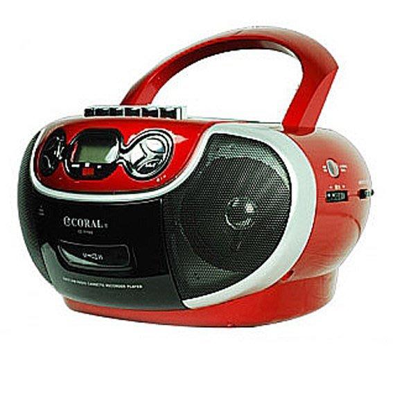 【含稅】CORAL CD-7700 多功能手提音響 AM/FM收錄音機 卡帶 CD USB