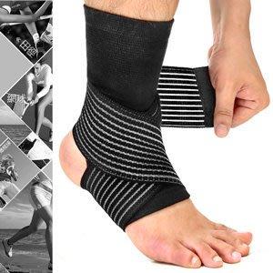 ⊙哪裡買⊙2in1雙重加壓纏繞式護腳踝D017-03綁帶繃帶護踝束帶束套.運動防護具.保暖腳踝套.跑步登山籃球自行車網球