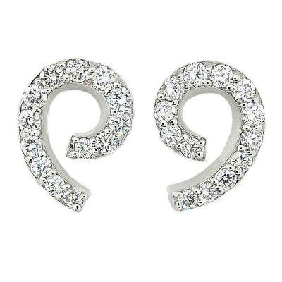 【JHT金宏總珠寶/GIA鑽石專賣】0.40ct天然鑽石耳環/材質:18K(JB41-D03)