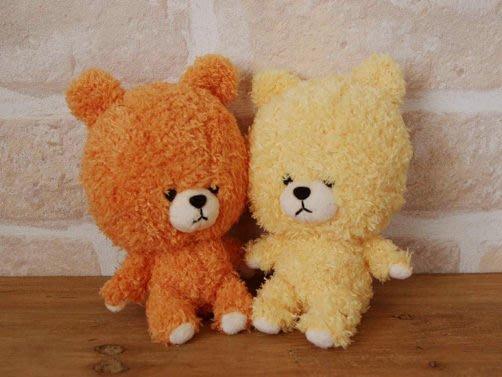 尼德斯Nydus~* 日本正版 小熊學校 Jackie 雙胞胎妹妹 twins rururoro 玩偶 絨毛 公仔 娃娃 黃+橘