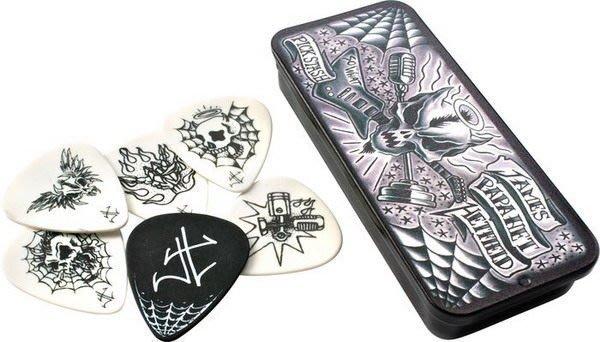 ☆ 唐尼樂器︵☆ Dunlop Metallica 金屬製品 James/ Kirk 簽名款電吉他 Pick 彈片(典藏鐵盒6片裝)