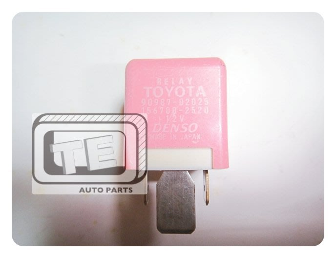 【TE汽配通】TOYOTA 豐田 ALTIS VIOS CAMRY 風扇繼電器 12V 日本DENSO 9098702025