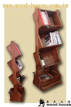 原木工坊~ 免費室內設計規劃  南歐風酒架;書報架