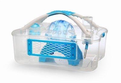 ACEPET愛思沛《精緻X鼠籠》(藍色)NO.729 透明壓克力 適合三線 / 布丁 / 銀狐 / 老公公等小型寵物鼠