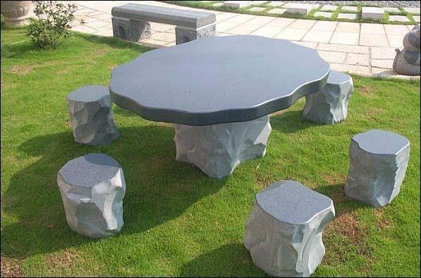 花崗岩 石桌椅