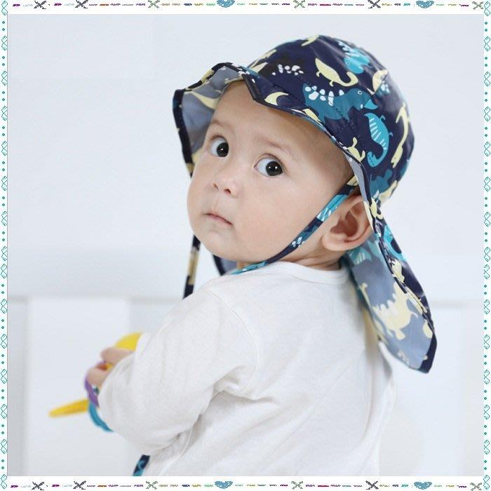 **大老婆小寶貝**夏天寶寶遮陽帽 、兒童披肩防曬帽.抗uv帽~(45cm、47cm、49cm、51cm)